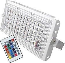 ESS EMM Metal White Body Crystal 50 Watt 220-240V Waterproof Landscape IP66 LED Flood Light RGB Multicolour with Remote