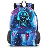 Galaxy School Backpack Bookbag Casual Daypack Travel Laptop Backpack for Girls Women Teenagers (Galaxy Blue with Pencil Case(Anime))