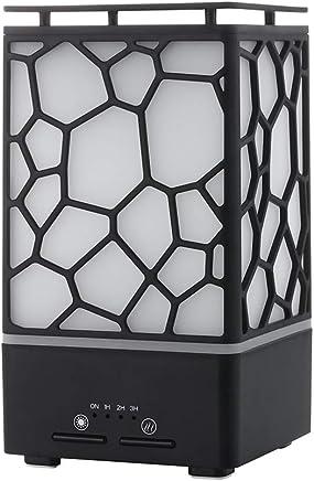 アロマセラピー超音波空気清浄機家庭用サイレントタイムエッセンシャルオイル加湿器ナイトライトミスト加湿器用オフィスホーム (色 : 黒)