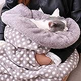 Perro Gato Sacos de Dormir con Bolsillo Adorable Camas Acogedoras Super Caliente Conejo Cachorro Cojín Esterilla Múltiple Función Suministros para Mascotas
