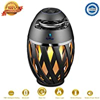 Viiwuu Led Flame Torch Atmosphere Bluetooth Speakers with HD Audio and Enhanced Bass (Black)