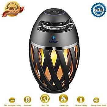 Viiwuu Led Flame Torch Atmosphere Bluetooth Speakers