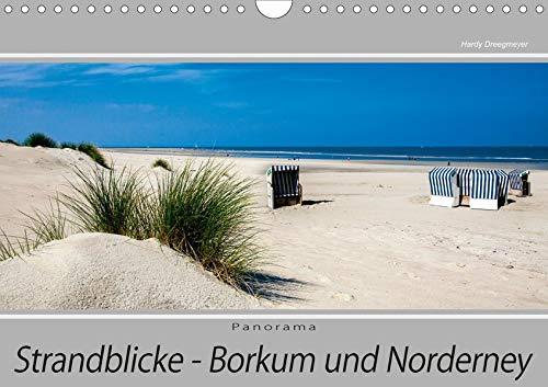 Strandblicke Borkum und Norderney (Wandkalender 2020 DIN A4 quer): Inselaufnahmen im Panorama-Format unterstützt die unendliche Weite des Landes (Monatskalender, 14 Seiten ) (CALVENDO Natur)