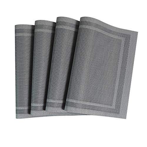 Kjz-placemats Haushalts-Anti-Verbrühungs- Und wasserdichte Tischsets, Isolierkissen Tischtrinkglas Und Schüsselmatte PVC-Tischmatten-Topfkissen(Size:4pcs)