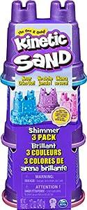 Kinetic Sand-Schimmer Sand 3er Pack Arena Brillante (3 Unidades, 340 g), Color no se Puede aplicar. (Spin Master 6053520)