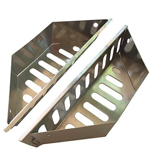 Quality Grill Parts Paniers à charbon robustes en acier inoxydable pour barbecues Weber