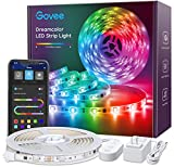 LED Strip Lights RGBIC Dreamcolor, Govee APP Control Bluetooth 16.4ft Multicolor LED Light Strip Waterproof, Music Sync with Color Changing Lights for Room, Kitchen, Home, Party, Halloween, Christmas