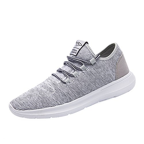 KEEZMZ Men's Running Shoes Fashion Breathable Sneakers Mesh Soft Sole Casual Athletic Lightweight Gray-46