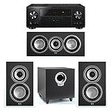 ELAC Uni-Fi 3.1 System with 2 ELAC UB5 Bookshelf Speakers, 1 UC5 Center Speaker, 1 ELAC Debut S10 Powered Subwoofer, 1 Pioneer VSX-LX302 A/V Receiver