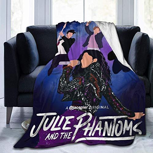 Coperta ultra morbida in flanella con scritta 'Julie and The Phantoms', 127 x 101,6 cm