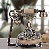 L.TSA Retro Telefon Festnetz/Metall/Anrufanforderung/Freisprechen/Festnetzanschluss mit Kabel/Anrufer-ID-Anzeige