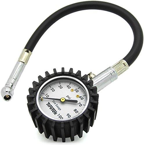 TireTek Flexi-Pro Tire Pressure Gauge, Heavy Duty - Best for Car & Motorcycle 0-100 PSI