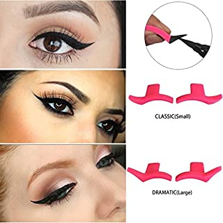 Auch 2 Pairs Silicone Winged Eyeliner Stamp, Wing Style Eye Liner Stamp Makeup Multifunction Eyeshadow Stencil Models Template Shaper Tool Eye Liner Tail Seal