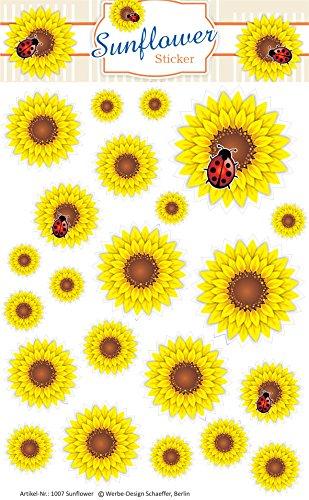 Schaeffer-Marketing / 1007 - Sunflower - STICKER! Selbstklebende Etiketten/Aufkleber sind zum Bekleben und Dekorieren von Fotoalben, Schachteln und selbstgemachten Geschenken ideal.
