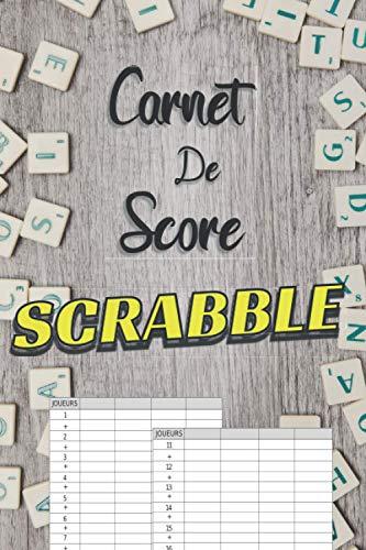 Carnet de Score Scrabble: cahier de score pour parties de Scrabble - 120 pages - petit format- cadeau idéal pour joueur