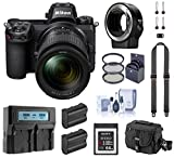 Nikon Z6 FX-Format Mirrorless Digital Camera w/NIKKOR Z 24-70mm f/4 S Lens, Complete Bundle with FTZ Mount Adapter, 64GB XQD Card, 2 Extra Battery and Accessories