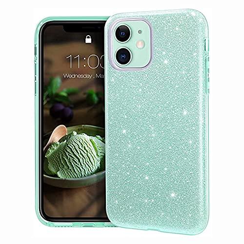 Anceky Custodia per iPhone Xs/X, con glitter e brillantini, per iPhone Xs/X, sottile, in PC, con cover in TPU, antigraffio, antiscivolo, per iPhone Xs/X