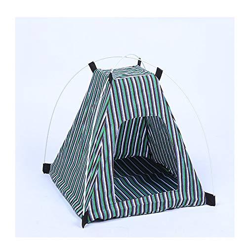 KLJJQAQ kleine huisdier hond tent draagbare opvouwbare mesh Oxford doek zon schaduw hond poot vorm pop-up tent huis voor strand camping picknick reizen blauw