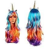 Peluca de Unicornio - Accesorios de disfraces para damas - perfecto para Carnaval y Cosplay - perfecto para combinar con un disfraz