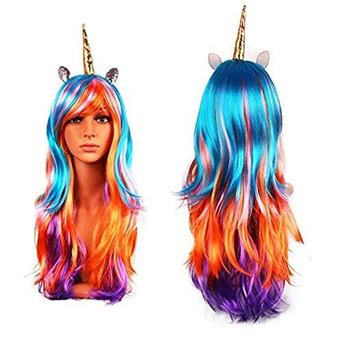 Peluca Unicornio - Accesorios disfraces damas - perfecto