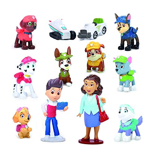 CAKE topper Paw Patrol Action Figure Puppy Patrol Dog bambini giocattolo regalo 12 PZ Set