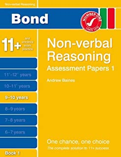 Bond Assessment Papers Non-Verbal Reasoning 9-10 yrs Bk 1