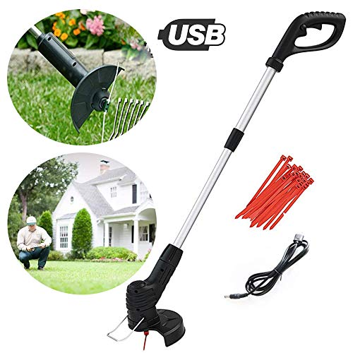 YCAXZSH Handheld Portable Cordless Weeder,Grass Trimmer Retractable Cordless Electric Grass Cutter Lawn Mower Best for Garden Lawn