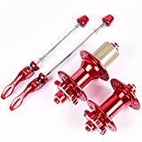 DIYARTS Buje Bicicleta 24 28 32 Agujeros Freno Disco Rodamiento Sellado Ultraligero Bicicleta Carretera MTB (Red-28)