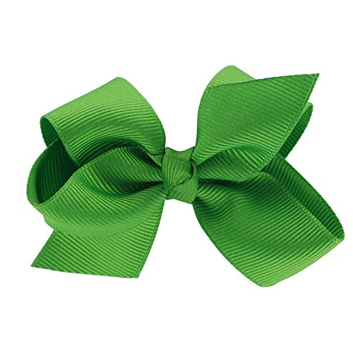 QingHan 3 inch Hair Bows For Girls Grosgrain Ribbon Boutique Bow Alligator Clips Teens Children Pack Of 20