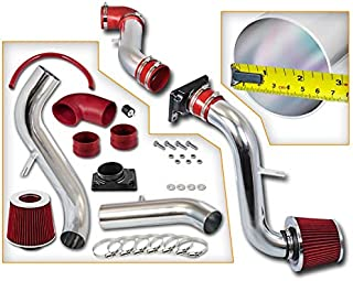 Rtunes Racing Cold Air Intake Kit + Filter Combo RED For 01-05 Chrysler Sebring 3.0L V6 / 01-05 Dodge Stratus Coupe 2.4&3.0L / 00-05 Mitsubishi Eclipse 2.4&3.0L / 99-03 Mitsubishi Galant 2.4&3.0L