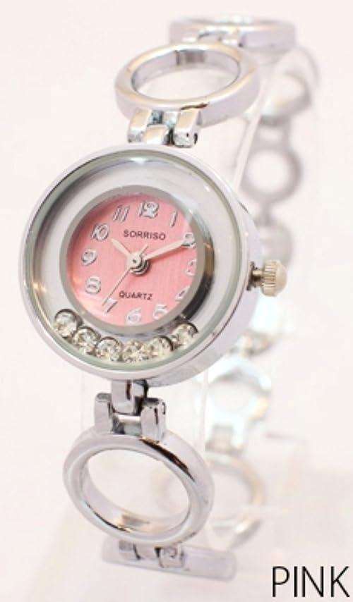 お客様露骨な使い込むジュエリー仕様の優れモノ!おしゃれなレディースウォッチ [ SORISSO 461L1 ] 誕生日プレゼント 腕時計 (ピンク)