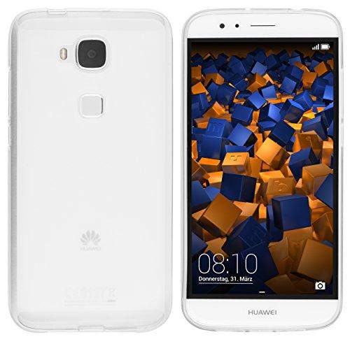 mumbi Hülle kompatibel mit Huawei G8 / GX8 Handy Case Handyhülle, transparent Weiss