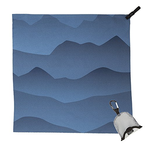 PackTowl Nano Towel, Blue Mountain, 19' x 19'