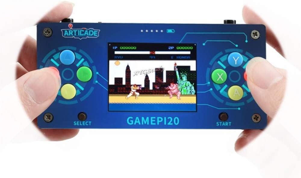 XYGStudy GamePi20 Add-ons for Raspberry Pi Zero W WH Mini Portable Retro Video Handheld Game Console Kit with 320x240 2.0inch IPS Screen Display Monitor Plays Anywhere Anytime