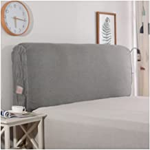 Headboard Cover Queen Size Thicken Soft Comfotable Short Plush Bed Head Slipcover for Twin Protector Cotton Dustproof Stre...