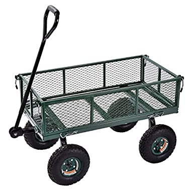 Sandusky Lee CW3418 Muscle Carts Steel Utility Garden Wagon, 400 lb. Load Capacity, 21-3/4 Height x 34  Length x 18  Width