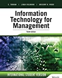 Information Technology for Management: Advancing Sustainable, Profitable Business Growth, International Student Version
