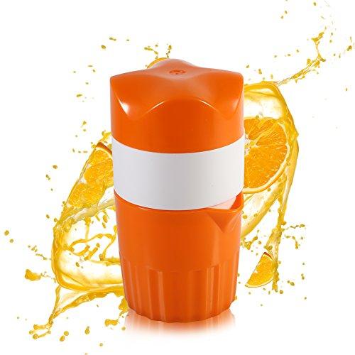Yosoo Presse-Agrumes Manuel Portable pour Oranges Presse-Fruits Mini À Main (Couleur: Orange Et Blanc)