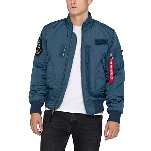 Alpha Industries Jacket Engine, Farbe:bold blue;Größe:M