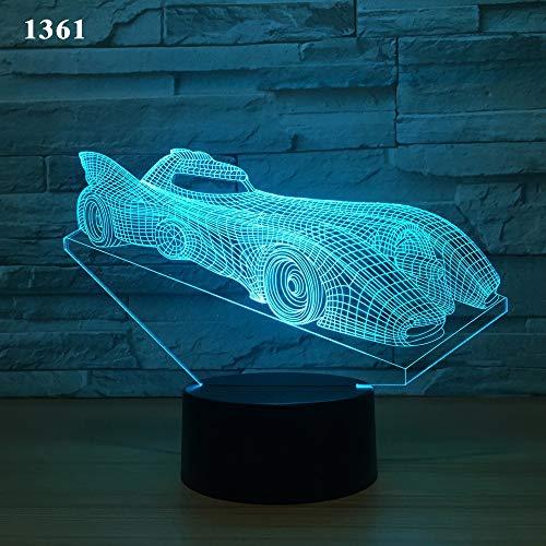 Wylolik NACHTLICHT FÜR KINDER Premium 3D Illusion Nachtlichtset Erstaunliche Sportwagen-Designs in...