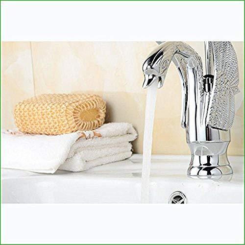 Alle Verkupferung Wasserhahn Wippschalter niedrig Schwan Bad Becken Wasserhahn Boden Becken heißes und kaltes Wasser Mischventil Silber