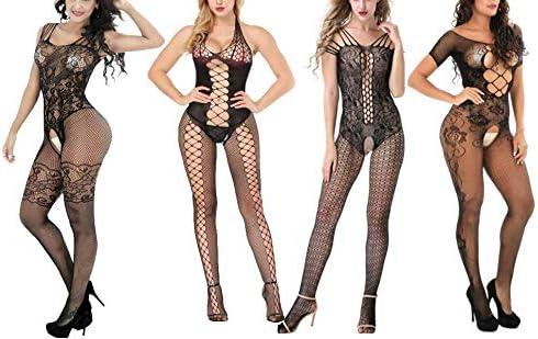 Jacksonville Mall Women's Lace Stockings Lingerie Floral Lingeri Max 79% OFF Fishnet Bodysuits