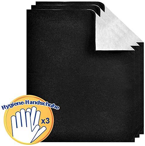 PROKITCHEN 3er Universal Dunstabzugshaube Aktiv-Kohlefilter, zuschneidbare Filtermatten Dunstabzugshaube, Dunst-Flachfilter für jede Dunstabzugshaube (57 * 47 cm)