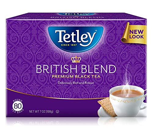 Tetley British Blend Premium Black Tea, 7 Ounce (Pack of 6) - Packaging May Vary