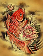 Carp Aaron Cox Traditional Japanese Tattoo Rolled Canvas or Paper Wall Art Print