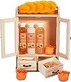 BRUBAKER Cosmetics Bade- und Pflegeset Pfirsich im Holzschrank