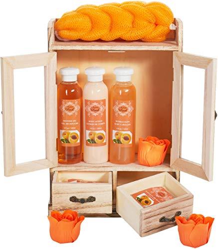 BRUBAKER Cosmetics set beauty da bagno e igiene personale pesca in comodo armadietto in legno
