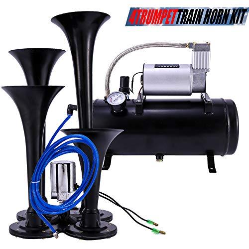 Train Horns Kit For Trucks Air Horn Boat Motorcycle Car 150 DB Train Horns Kit for Trucks