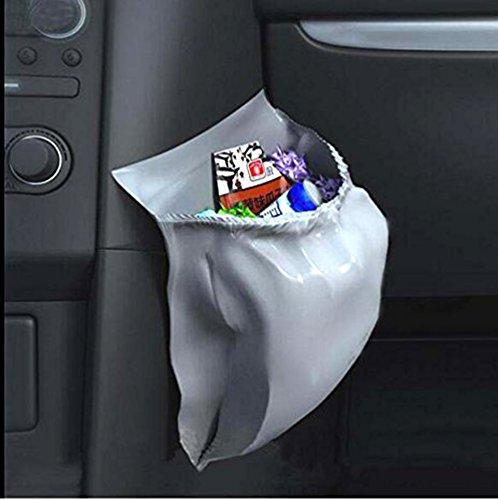 30Pcs Car Garbage Bag PVC Waterproof Leakproof Disposable Auto Trash Can Bag for Litter Large Capacity Leak-Proof Portable Convenient