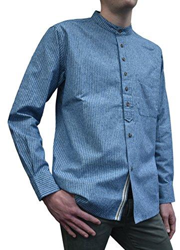 Lee Valley Grandfathershirt blau | 3XL